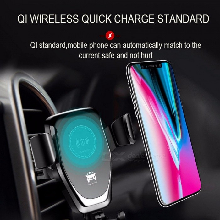 Qi Car Wireless Charger Phone Holder Air Vent Suction Cup Wireless Car Charging Pad For Samsung