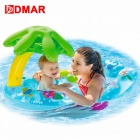 Inflatable-Swimming-Ring-Baby-Infant-Pool-Float-Toys-With-Canopy-Sea-Mattress-Beach-Party-Kids-Adults-Toy-Sky-Blue