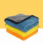 Auto-Care-5PCS-45cmx38cm-Super-Thick-Plush-Microfiber-Car-Cleaning-Cloth-Car-Care-Microfibre-Wax-Polishing-Towels-YellowCoral-Fleece