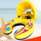 Baby-Swimming-Ring-With-Visor-Mother-And-Children-Swim-Circle-Inflatable-Safety-Swimming-Rings-Float-Seat-White