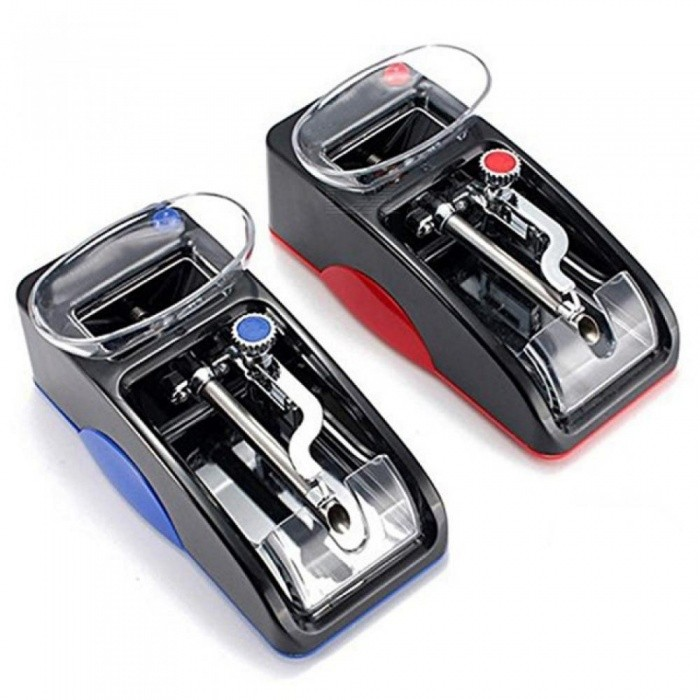 1pc Electric Easy Automatic Cigarette Rolling Machine Tobacco Injector Maker Roller Cigarette Roller Red US
