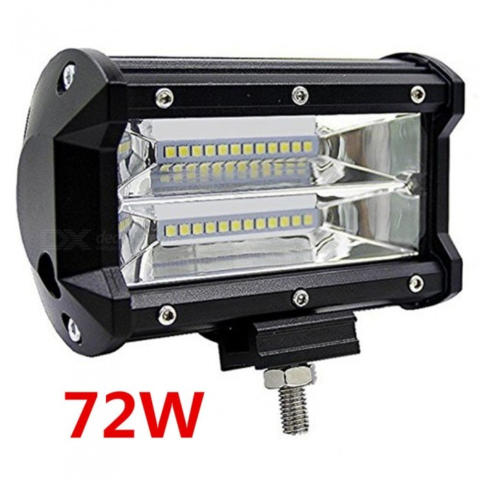 Buy RXDZ 72W Car LED Work Lights LED Lights Strip Headlight Flood Light - Black with Litecoins with Free Shipping on Gipsybee.com