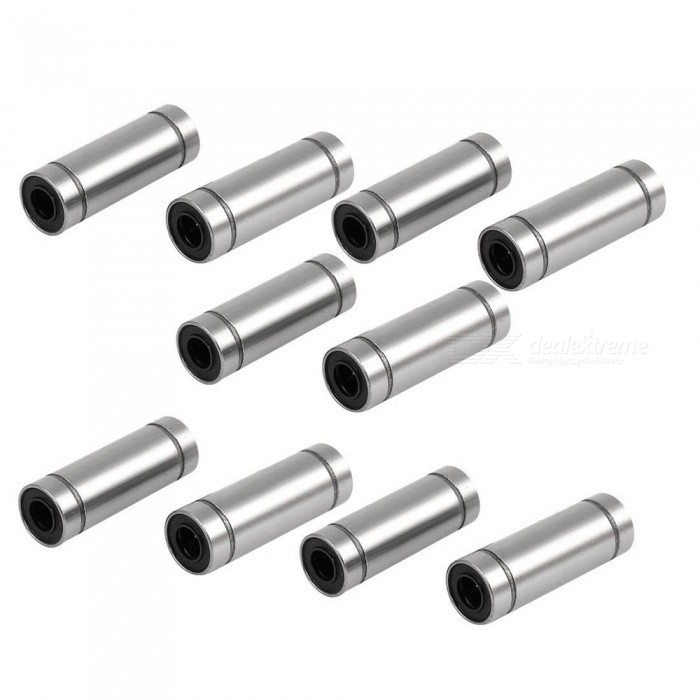 BTOOMET-LM6LUU-6mmx12mmx35mm-Linear-Motion-Bushing-Ball-Bearing-Silver-10pcs