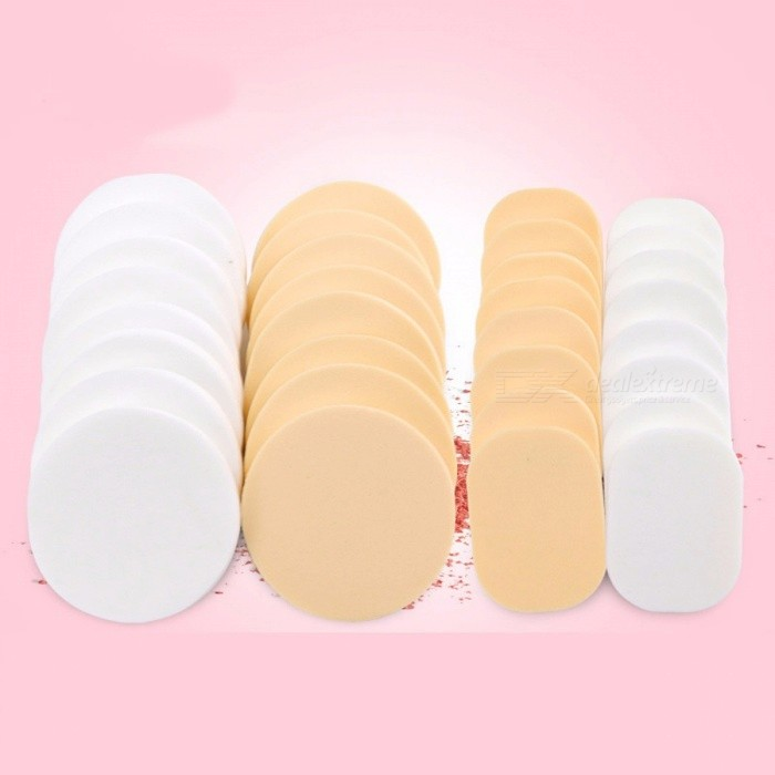 Buy Makeup Sponge Puff 16pcs Face Blender Liquid Foundation Powder Cosmetic Puff Sponge Base Concealer Puff Dry Wet Yellow with Litecoins with Free Shipping on Gipsybee.com