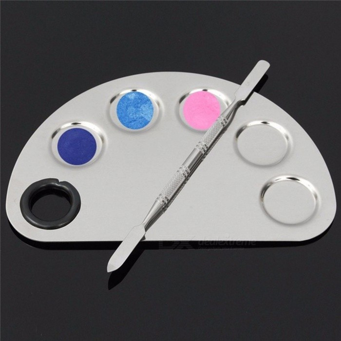 Stainless Steel Cosmetic Makeup Nail Art Gel Palette Spatula Five ...