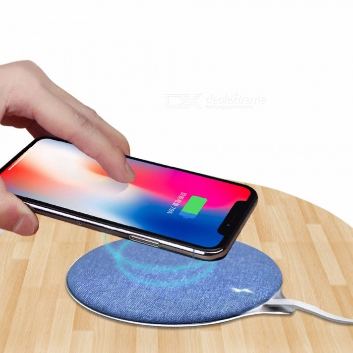 Smartphone | Wireless | Charger | Fabric | Metal | Blue | Pad