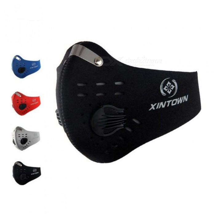 Men Women Air Filter Sport Half Face Mask for Train Bicycle Cycling Bike Running Jogging Facemask Anti Fog Pollution Mask-Black