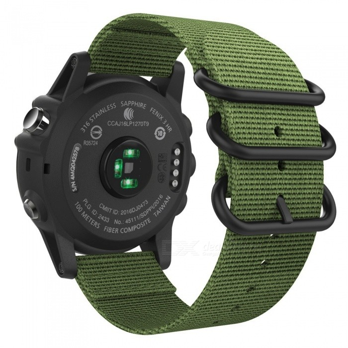 Miimall Band For Garmin Fenix 3 Watch Woven Nylon Adjustable