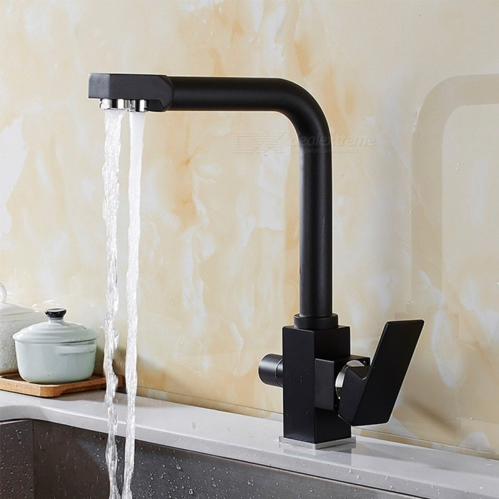 Brass-Black-Spray-Paint-360-Degree-Rotatable-Ceramic-Valve-Two-Handles-One-Hole-Kitchen-Faucet-with-Water-Purification-Feature