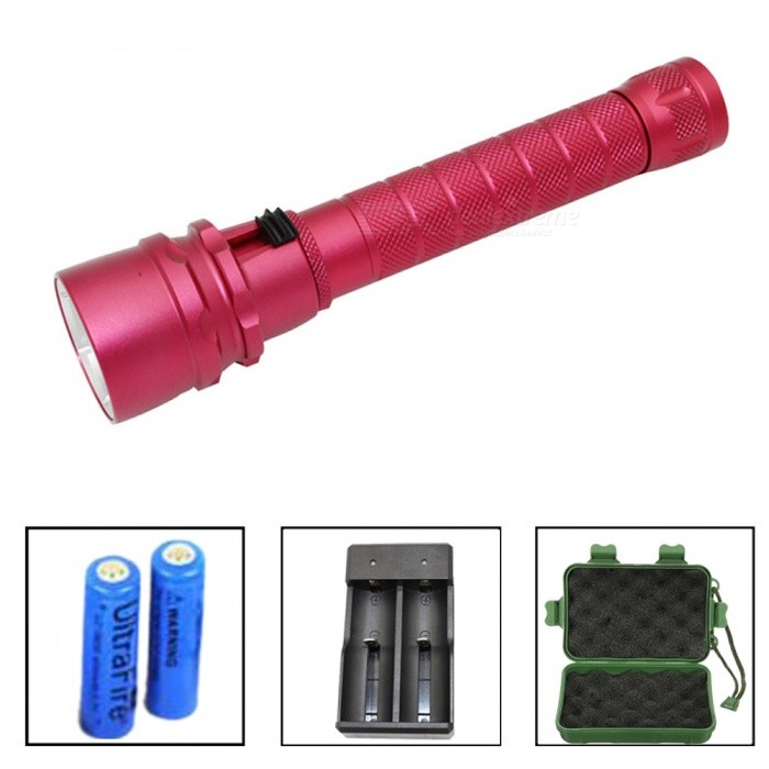 3 x L2 Diving Flashlight Outdoor Light Recharge LED Flashlight Magnetic Control Light Dimming