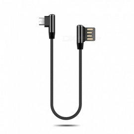 Cwxuan Micro USB Fast Charge Nylon Cord 90 Degree L Bending Data Sync Cable for Xiaomi, Huawei, Vivo, Samsung