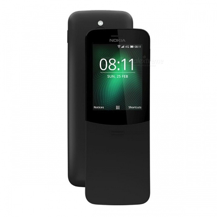 Buy Nokia 8110 Dual Sim Mobile Phone with 512MB RAM, 4GB ROM - Black with Litecoins with Free Shipping on Gipsybee.com