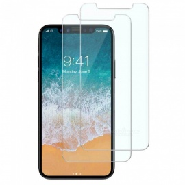 2pcs 0.2mm 9H Hardness Tempered Glass Screen Protector Film for IPHONE X