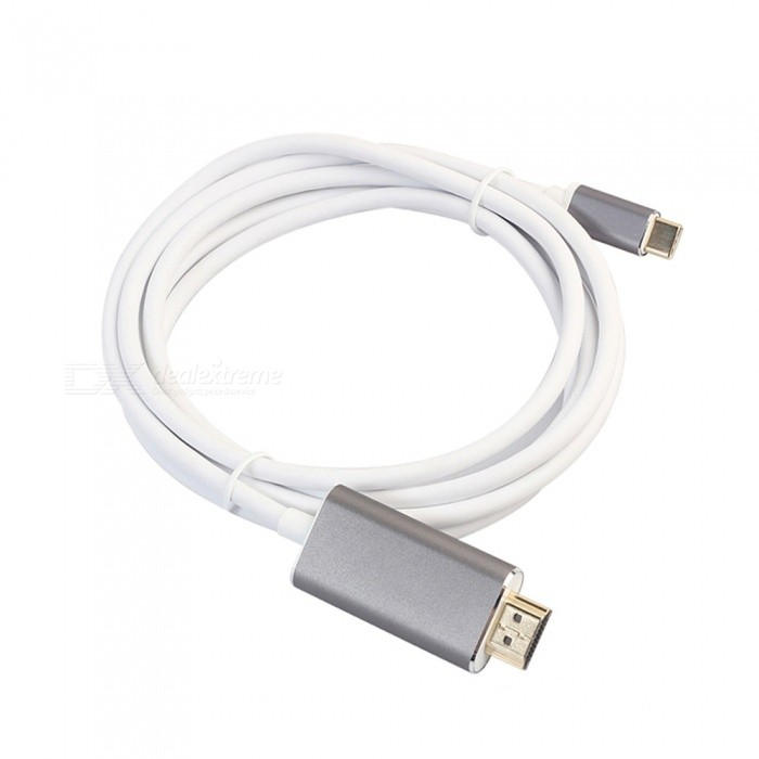 1.8M 4K USB 3.1 Type-C Male to HDMI Cable for Macbook / ChromeBook Pixel / Samsung Notebook etc