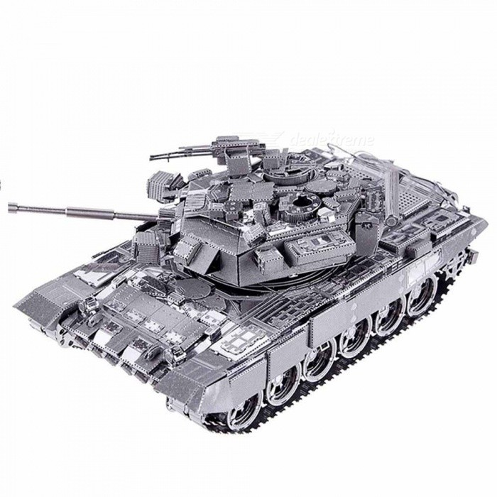 Buy ZHAOYAO DIY 3D Metal Puzzle Toy, P047S T-90A Tank Model Kits, Assembled Metal Craft 3D Puzzles with Litecoins with Free Shipping on Gipsybee.com