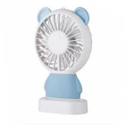 Ismartdigi-i-2801-BL-Bear-Style-Mini-Portable-Handheld-Fan-with-3-LED-Light-Rechargeable-USB-Fans-Blue