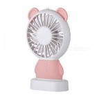 Ismartdigi-i-2801-PK-Bear-Style-Mini-Portable-Handheld-Fan-with-3-LED-Light-Rechargeable-USB-Fans-Pink