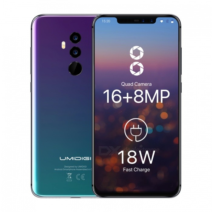 UMIDIGI Z2 6.2 inch Notch Full Screen 4G Phablet w/ 6GB + 64GB, Face ID - TWILIGHT for sale for the best price on Gipsybee.com.