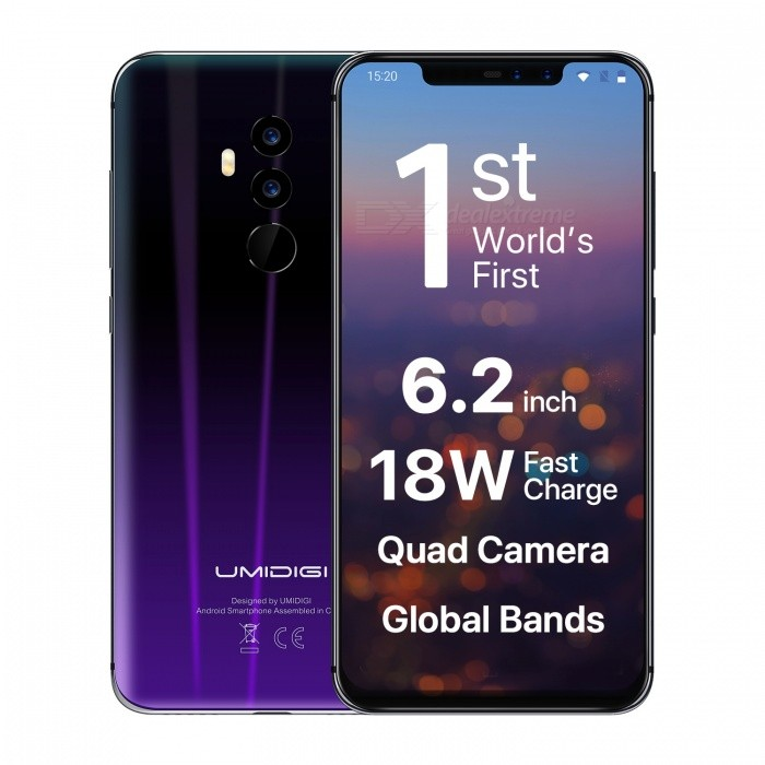 UMIDIGI Z2 4G Phablet 6GB + 64GB  - TWILIGHT Black