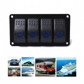 Car-Modification-4-Switch-Straight-Line-Modification-Blue-Double-Lamp-5P-ON-OFF-Switch-12v-24v-Universal