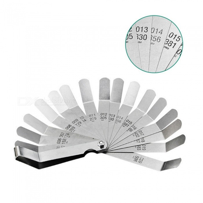 Buy Measurement 0.127-0.508MM / 0.005-020nich 16 Blade Thickness  Gap Filler Feeler Gauge Measure Tool with Litecoins with Free Shipping on Gipsybee.com