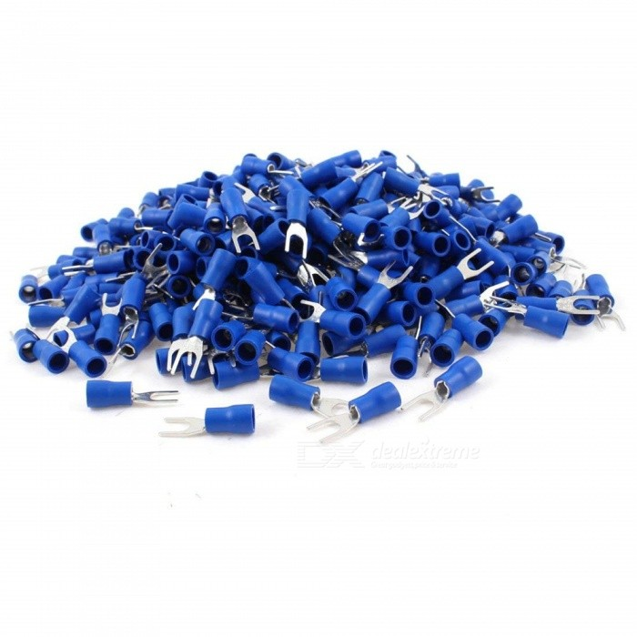 BTOOMET-Pre-Insulated-Fork-Terminals-SV2-4S-for-AWG-16-14-Wire-and-8-Stud-1000-Pieces-Blue