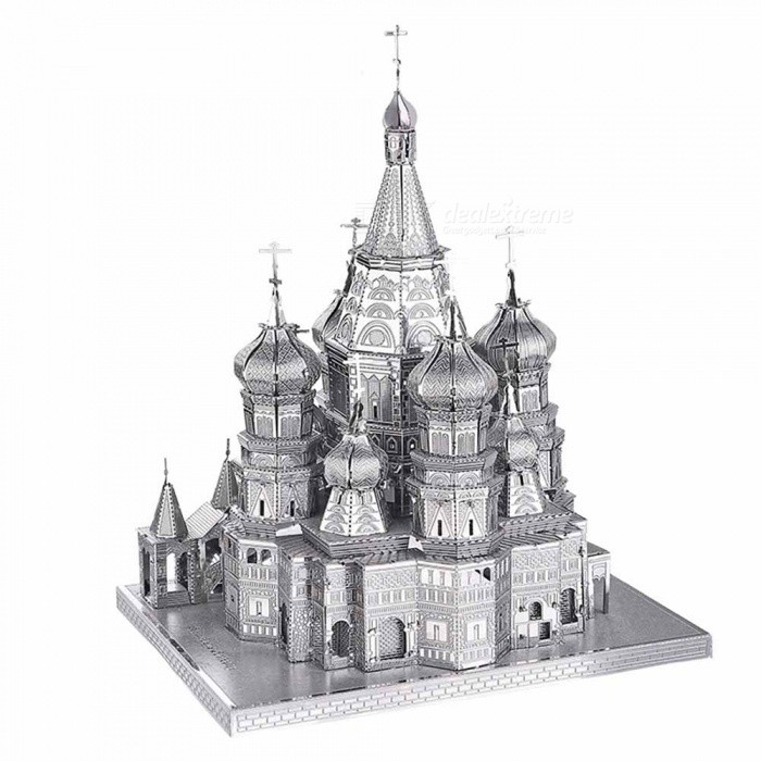 Buy 3D Puzzle Metal Toys, Saint Basil Cathedral P014G Educational Puzzle 3D Models with Litecoins with Free Shipping on Gipsybee.com