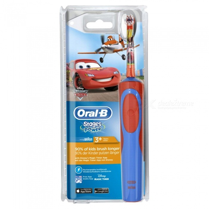 Buy Oral-B D12.513 Children's Charging Electric Toothbrush - Disney Cars with Litecoins with Free Shipping on Gipsybee.com