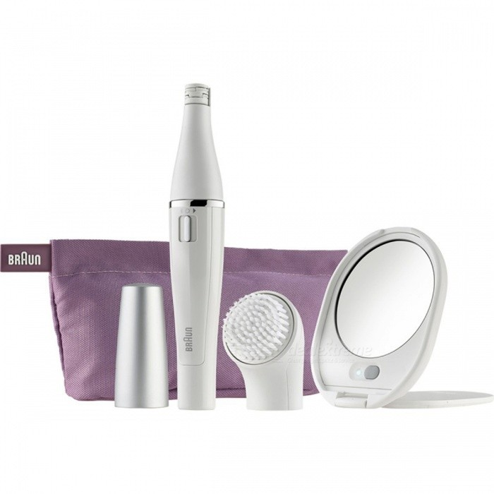 Buy BRAUN FaceSpa Premium Kit SE830 Face Epilator with Facial Cleansing Brush and Lighted Mirror with Litecoins with Free Shipping on Gipsybee.com