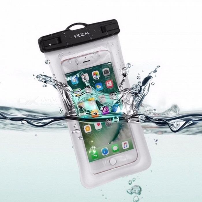 Buy ROCK RST1016 Universal Waterproof Pouch Bag For IPHONE, Samsung, Xiaomi, Huawei Green with Litecoins with Free Shipping on Gipsybee.com
