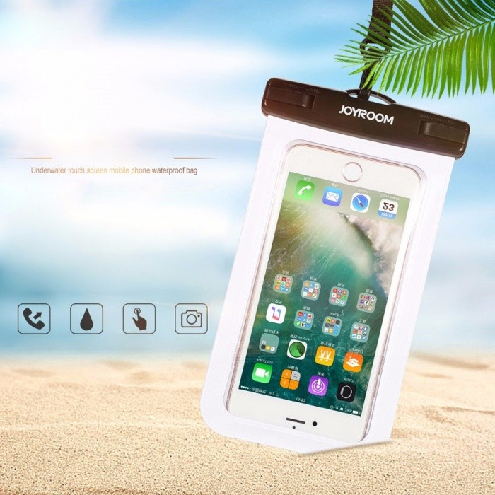 Buy Joyroom CY171 IPX8 30 Meters Waterproof Pouch Mobile Phone Bag Swimming Bag For IPHONE, Samsung, Huawei White with Litecoins with Free Shipping on Gipsybee.com