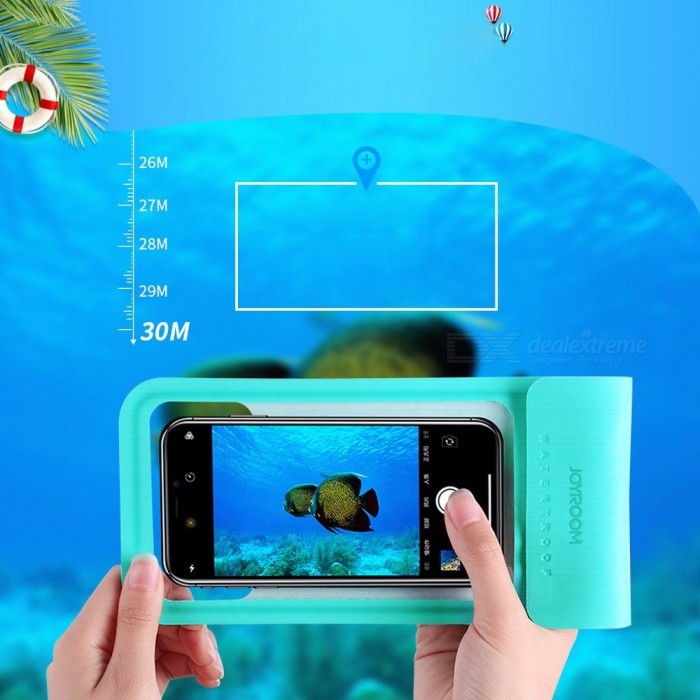 Buy Joyroom CY701 Waterproof Bag Pouch IPX8 30 Meters Mobile Phone Swimming Pouch For IPHONE, Samsung Pink with Litecoins with Free Shipping on Gipsybee.com