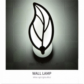 Modern Leaf Style LED Wall Lamp Living Room Aisle Sconces Home Decor Acrylic Wall Light AC 85~265V White/6-10W/Nature White(3500-5500K)