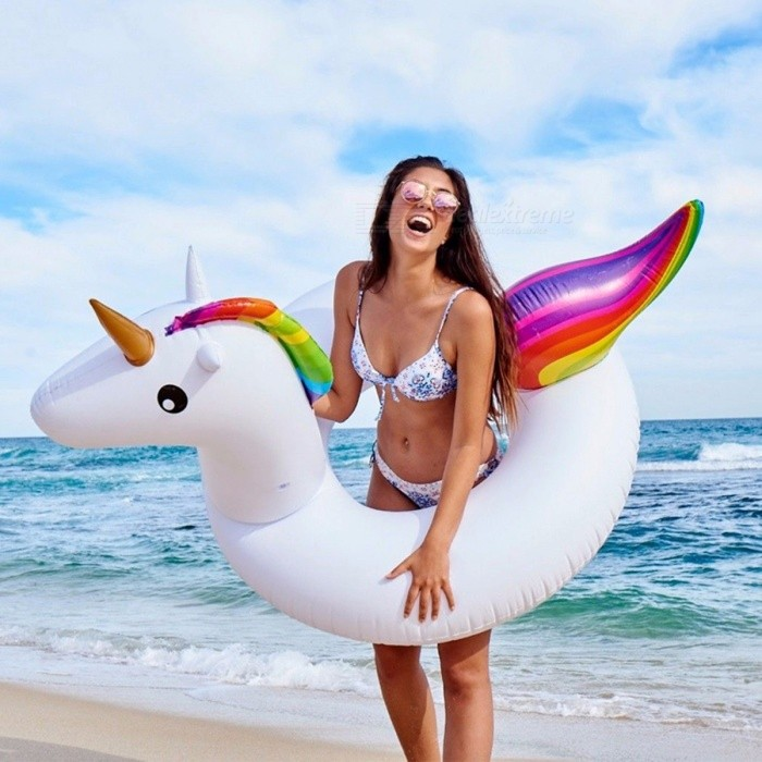 120x90cm Giant Inflatable Unicorn Swimming Ring Pool Float For Adult Children Water Floats Holiday Party Toys
