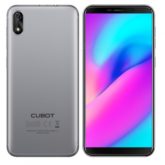 "CUBOT J3 Android GO 3G 5.0"" Phone with 1GB RAM, 16GB ROM - Grey"