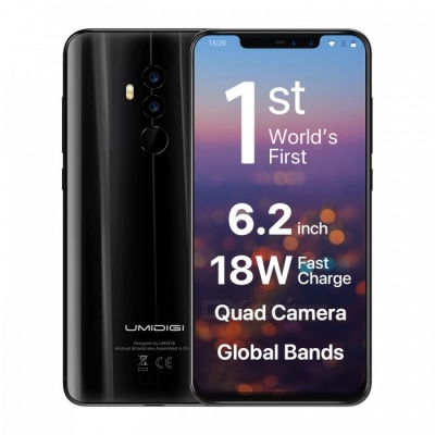 UMIDIGI Z2 6.2 inches Notch Full Screen 4G Phablet Phone w/ 6GB + 64GB, Face ID - Black