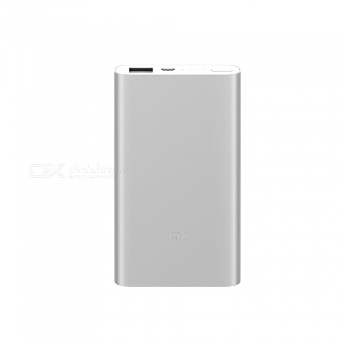 Buy Xiaomi 5000mAh Power Bank - Silver with Litecoins with Free Shipping on Gipsybee.com