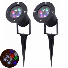 YouOKLight-RGB-Christmas-Snowflake-Projector-Lights-Waterproof-12W-LED-Auto-Rotating-Spotlight-Lamps-2Pcs