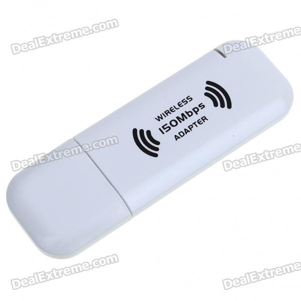 802.11n 150Mbps WiFi / WLAN de red inalámbrica adaptador USB - blanco