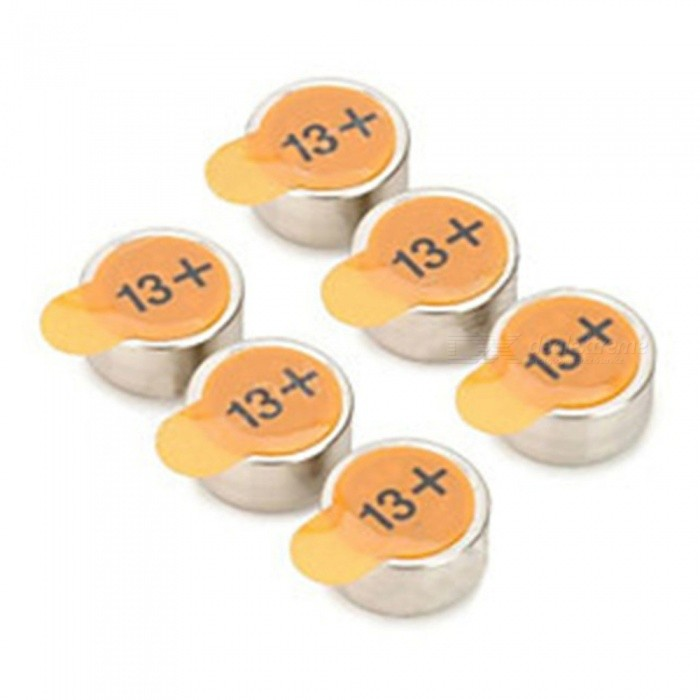 Buy A13 PR48 Japan Import Hearing-aid Button Cell - Silver (6 PCS) with Litecoins with Free Shipping on Gipsybee.com