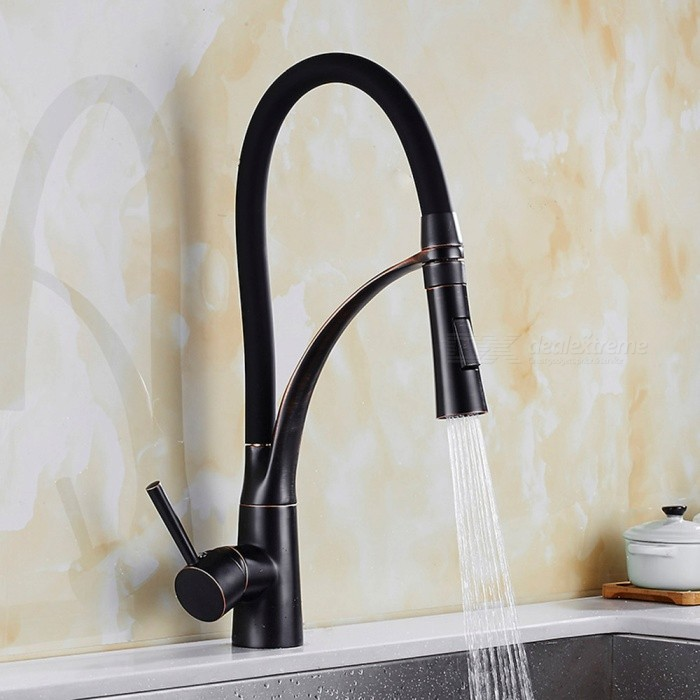 Brass-Oil-rubbed-Bronze-360-Degree-Rotatable-Ceramic-Valve-Single-Handle-One-Hole-Kitchen-Faucet