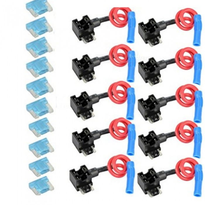 Buy 10PCS Car Auto Circuit Fuse Tap Adapters Blade Fuses Holder for Easy & Safe Use Micro Mini Type Fuse with Litecoins with Free Shipping on Gipsybee.com