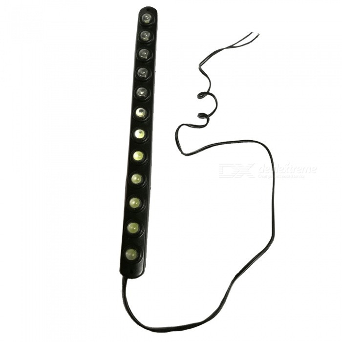 Buy OJADE 12 LED Flexible White Light Car LED Lamp Day Line Lamp - Black with Litecoins with Free Shipping on Gipsybee.com