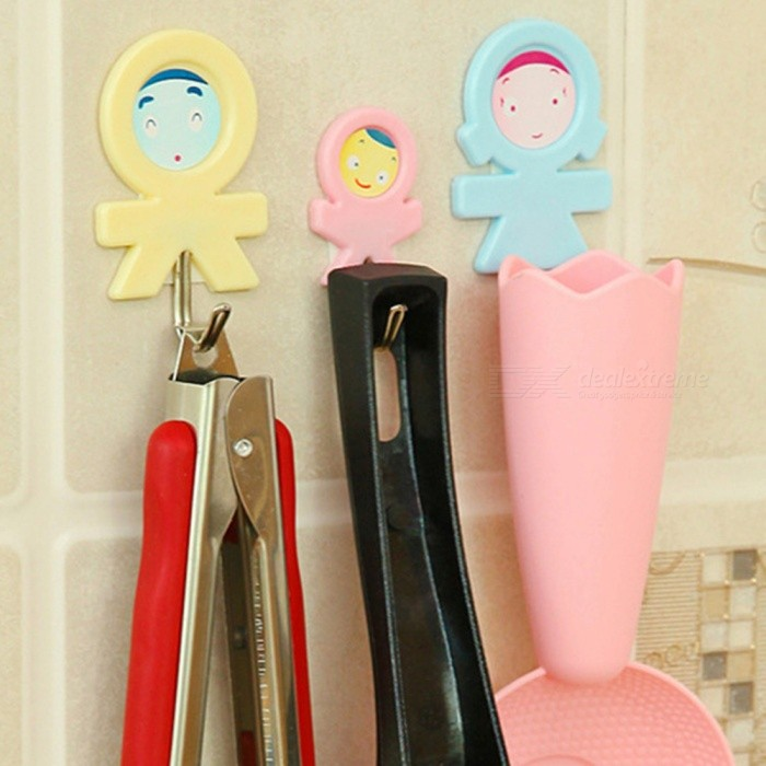 Buy Cartoon Cute Strong Stick Household Keys Towels Belt Hanging Hooks (3PCS) with Litecoins with Free Shipping on Gipsybee.com
