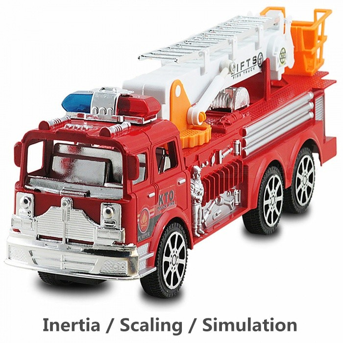 Buy 1:24 Large Children's Inertia Simulation Ladder Truck Fire Engine with Litecoins with Free Shipping on Gipsybee.com