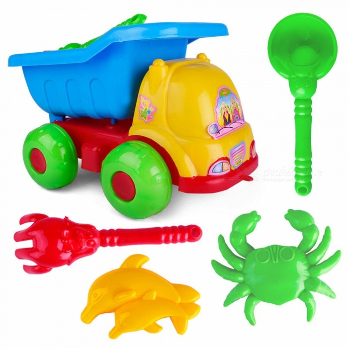 Buy Kids Children Seaside Truck Shovel Rake Kit Building Molds Funny Sand Water Beach Play Toys 5pcs/Set with Litecoins with Free Shipping on Gipsybee.com