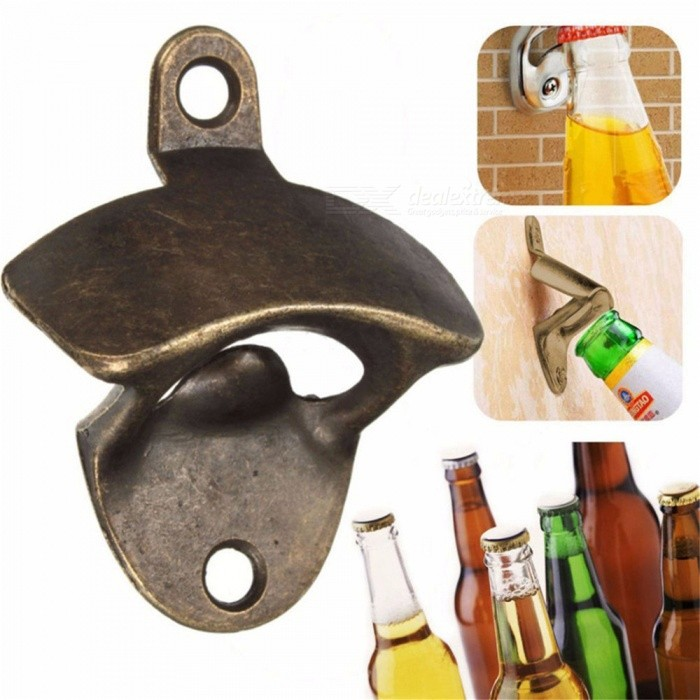 Buy Wall Mounted Unique-design Metal Beer Bottle Opener (1 PC) with Litecoins with Free Shipping on Gipsybee.com