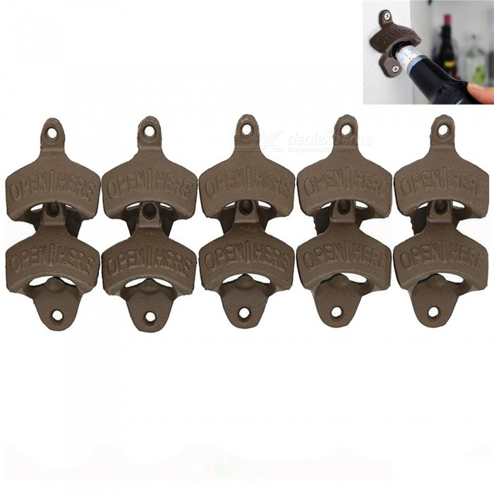 Buy OJADE Wall Mounted Unique-design Metal Beer Bottle Opener (10 PCS) with Litecoins with Free Shipping on Gipsybee.com