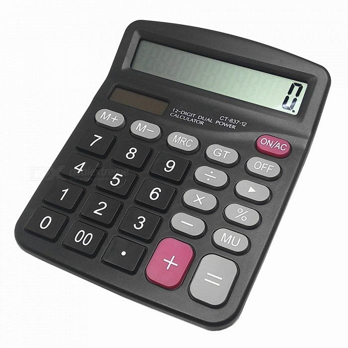 CT-837-12 12 Digits Electronic Calculator  with Big Display / Shift Back Function