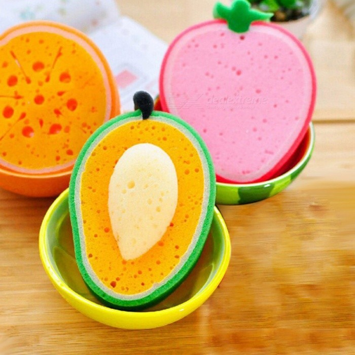Buy Fruit Shape Creative Thickened Sponge Cleaning Cloth with Litecoins with Free Shipping on Gipsybee.com